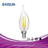 Indicatore luminoso della candela del LED con la lampadina del filamento della coda 5W E14/E27 LED
