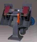 Rectifieuse verticale de courroie de sable de Double-Tête de contrôle de vitesse
