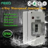 De verstrekte 4way IP66 PV Doos van de Distributie van de Bijlagen van de Toepassing Waterdichte Elektro