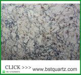 Partie supérieure du comptoir préfabriquée de pierre de quartz plus durable que le granit