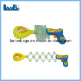 Personalizados baratos divertido juguete Pistola de puño telescópico de primavera