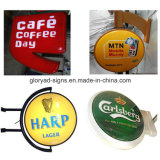 Outdoor Round Beer Display Acrylique LED Publicité Light Box
