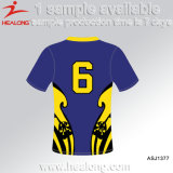Sublimação Fashion Any Logo Blank All Blacks College Rugby Jersey