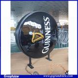 La publicité de bière ronde lumière signe (GD-CLG)
