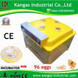 Incubateur certifié par CE d'oeuf de caille de Digitals avec 96 oeufs (KP-96)