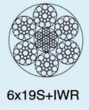 Ungalvanized 철강선 밧줄 6X19s+Iwr