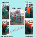 Gomma utilizzata che ricicla macchina alla polvere di gomma/doppia macchina della trinciatrice della gomma dell'asta cilindrica