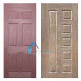 中国のクルミ低価格のベニヤによって形成されるHDFのドアの皮