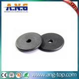 13.56MHz ronda PPS Coin Tag Etiqueta de montagem de metal passiva de RFID
