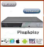 BNC VGA HDMI 出力付き 16 チャンネル DVR