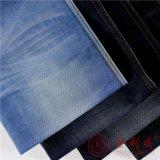Qm3412 Algodón poliéster tejido Denim Jeans preparadas