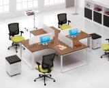 Partition blanche moderne populaire chaude de poste de travail de bureau de 4 sièges (SZ-WS68)