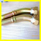 Embout de durites hydraulique de cône d'embout de durites de joint circulaire de coude de boyau de 45 degrés 20441