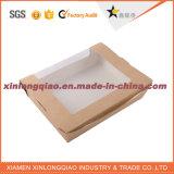 Kundenspezifischer Packpapier-Kasten Größebrown-Mit Belüftung-Fenster