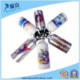 Sublimación de aluminio deportes botella de agua
