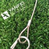 柔らかい目のシンプレックスホックが付いているSs 304ワイヤーロープの吊り鎖
