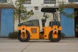Rolo vibratório tipo tambor duplo rolo de estrada (YZC3.5H)