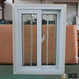 Ventana de desplazamiento del perfil de UPVC con la red del ladrón del acero inoxidable, ventana de UPVC, ventana del PVC, ventana K02087