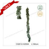 7.5 ' decorazioni di plastica di natale della ghirlanda sempreverde artificiale di natale