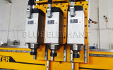 Máquina de cinzeladura de madeira giratória de 4 linhas centrais de Ele 2030, máquina de estaca do CNC de 3 eixos para as escadas de madeira