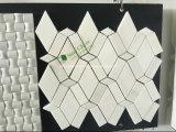 Het opgepoetste Mozaïek van de Vorm van de Diamant Witte Marmeren voor Muur en Vloer