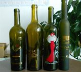 375ml深緑色のガラス氷のワイン・ボトル