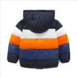 服装の子供の衣服のための縞で飾られた対照カラー男の子のジャケット