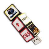 OEM USB van de Aandrijving van de Flits USB het Embleem van het Af:drukken van de Schijf USB 2.0 van de Flits van de Stok van het Geheugen van de Kaart van de Flits Pendrives van de Stok USB dobbelt de Kubus van Rubik