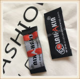 Customed Marken-Falte umrandet Kleid gesponnene Kennsätze für Kleidung