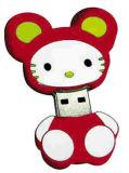 Mecanismo impulsor del flash del USB del gato, mecanismo impulsor lindo del flash del USB de la dimensión de una variable