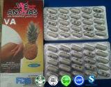 Par l'intermédiaire de l'ananas, par l'intermédiaire des pillules de régime de perte de poids d'ananas amincissant la capsule