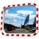 De gele Zwarte Witte Rode Convexe Spiegel van de Rechthoek van het Frame