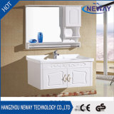 Vanité reflétées blanches de salle de bains en bois solide de qualité