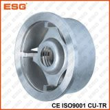 Tipo válvula de la oblea de Esg de verificación del disco