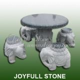 Elefant-Statue-Tabelle eingestellt (GT-458-2)