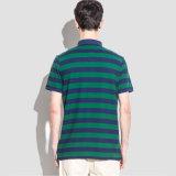 Chemises de polo bleues de bande pour le modèle de T-shirt de collier de polo de mode des hommes
