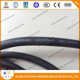 H07RN-F Câble en caoutchouc de cuivre souple de 3 Core CEI60245