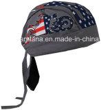 Nach Maß Firmenzeichen druckte Baumwolltau-Lappen-justierbares Schädelbandana-Kopf-Verpackungs-Kopftuch