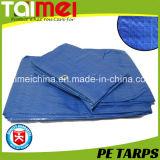 Feuille imperméable à l'eau de bâche de protection de PE avec traité aux UV