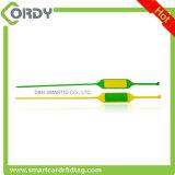 UHF RFIDのシールのカニの追跡のためのナイロンジッパーのタイの札