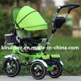 360 drehenSeat Baby Spaziergänger Baby Tricycle mit Pneumatic Wheels