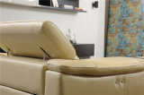 Sofá reclinable de diseño italiano de lujo de bajo perfil