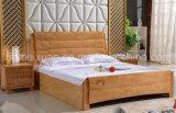 固体木のベッドの現代ダブル・ベッド(M-X2351)