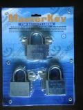 Cadeado de aço com bloqueio de chave mestre (AL-40, AL-50)