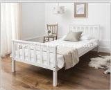 Einzelnes Bett einzelnes Bett-Holzrahmen-dem Weiß in des Weiß-3FT