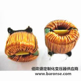 Bobina de estrangulación de cobre del enrollamiento con base de ferrita