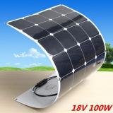 2017 constructeurs solaires de type de vente de panneau chaud neuf de Sunpower 100W offrent le panneau solaire flexible