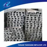 Canaleta em U de aço laminada a alta temperatura do aço de carbono 5# 40#