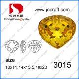Il Topaz chiaro ha sventato la pietra di cristallo di immaginazione posteriore del cuore per il disegno dei monili