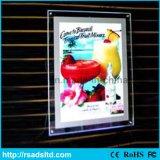 Taille de Customed annonçant le panneau de cadre en cristal d'éclairage LED